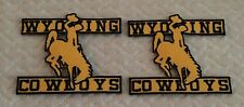 "(2) Wyoming Cowboys Vintage Classic Embroidered Iron On Patch 3.5"" x 3.5"" Nice!"