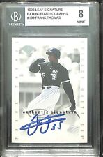 1996 Leaf Extended Signature Blue Ink Autograph Frank Thomas BGS 8