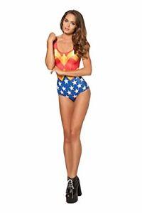 Top Totty Cool One Piece Women Swimsuit wonder woman super hero uk 8