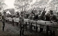 OLD PHOTO Yorkshire Hussars With Their Horses During World War One Circa 1916