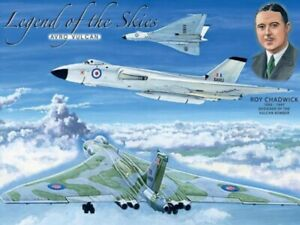 Legend of the Skies - Avro Vulcan small steel sign 200mm x 150mm (og)