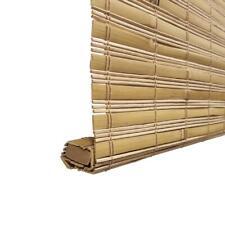 """HDC Tuscany Bamboo Weave Cordless Roman Shade Light Filter Honey 22.5 X 48"""""""
