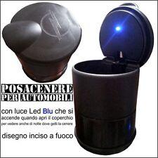 Posa Posa cenere Opaco a Cilindro 7x10 cm accessori auto a LED per OPEL VIVARO