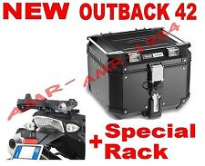 BAULE TREKKER OBK42B OUTBACK 42 LT. + PIASTRA SR6401 TRIUMPH TIGER 800 - 800 XC