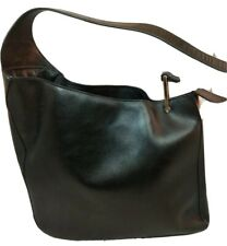 Versace Asymmetrical Black Leather Tote Shoulder Bag Handbag