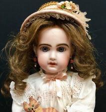 "18"" Tête Jumeau Bébé # 6 w/ Red Stamp French Bisque-Head Antique Doll tete bebe"