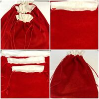 Christmas Bags velcro fastener /& ribbon Pack of 2 Medium Size 16x12x6 cm