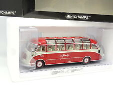 Minichamps 1/43 - Car Autocar Setra S8 1953 Rouge Knecht Reisen Suisse