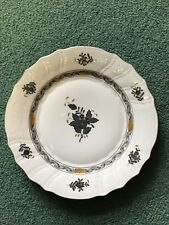 herend China Pattern-Chinese bouquet Black -Dinner Plate- New! Mint!
