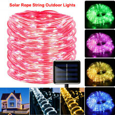 Solar LED Rope Lights Fairy Waterproof Outdoor Holiday garden Tube Light String