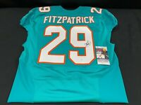 #29 MINKAH FITZPATRICK MIAMI DOLPHINS SIGNED ISSUED SAMPLE JERSEY STEELERS JSA