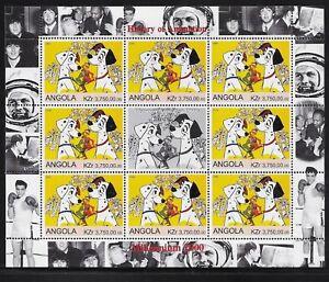 Angola 2000 History of Animation, Disney 101 Dalmations Souvenir Sheet MNH- pw49