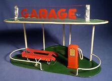 JOUETS AZUR Garage Ancien Tole ESSO Tankstelle 50's Vintage Tin Toy Station A174