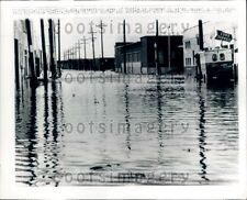 1969 Hurricane Camille Flooding Mobile Alabama Press Photo