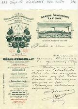 Dépt 13 - Marseille Rue d'Eguison - Belle Entête Secteur d'une Savonnerie - 1906