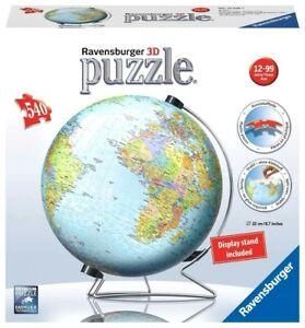 RAVENSBURGER. 3D PUZZLE. WORLD GLOBE. 540 PCS. ITEM NR. 12436 NEW