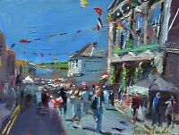 Jeremy Sanders Original Oil Painting - Helston Flora Day Cornwall (Cornish Art)