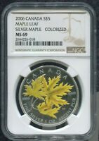 2006 CANADA $5 MAPLE LEAF - SILVER - NGC MS69 or SP69 /w ALL PACKAGING - SILVER