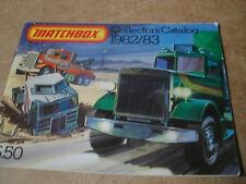 Matchbox Jouet catalogue 1982/83 USA Edition excellent état pour l'âge