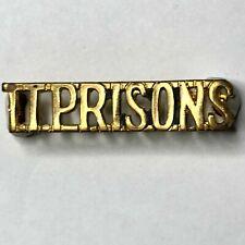 Obsolete African T.T Prisons Shoulder title