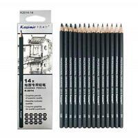 14Pcs Professional Drawing Pencil Sketch Art Artist Set School Craft Suppli X8R5
