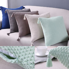 Lovely Knitting Pillow Case Tassel Cushion Cover Nordic Decorative Home Decor