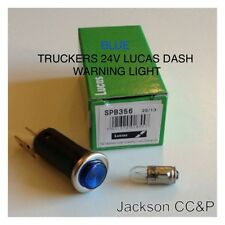 TRUCKERS LUCAS 24V BLUE DASH WARNING LIGHT WITH BULB FITTED & TESTED