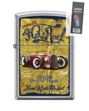 Zippo 207 VINTAGE HOT ROD classic car custom motor show Lighter + FLINT PACK