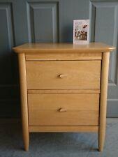 Ex Display Original Ercol Teramo Bedside Table,  Draws,  Cabinets with 2 Draws