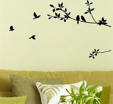Birds On Tree Vinyl Wall Sticker Art Decal Living Room Bedroom Home Nature Child