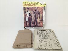 McCalls Adult Halloween Costume Pattern Cosplay First Americans Indians 7765 USA