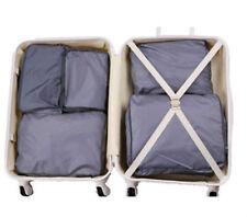 5PCS Wen Waterproof Packing Travel Luggage Organizer Clothes Storage Bags GREY