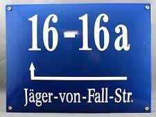 Emaille Münchner Hausnummernschild m Wunschzahl / Text 40x30cm Hausnummer Schild
