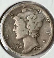 # A 317 1931 D Silver Mercury Dime F+