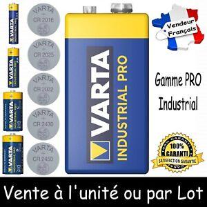 Piles 9V 6LR61 VARTA Dispo aussi LR03 LR6 LR14 LR20 CR 2016 2025 2032 2430 2450