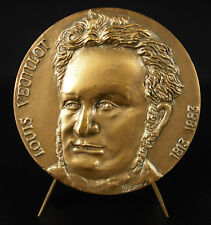 Médaille Louis Veuillot journaliste journal L'Univers catholique passionné medal