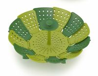 Joseph Joseph 40023 Lotus Folding Steamer Basket Non-Scratch BPA-Free, Green