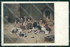 Reichert Hunting Dog MM 239 postcard cartolina QT7080
