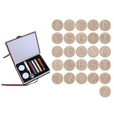 Wax Seal Stamp 26 Letters A-Z Five-petaled Flower Metal Clear Stamp Kit Set Tool