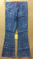 Mudd Stretch Flare Jeans Tag Size 3 With Bleach Dots Spots 29x31 FAST SHIPPER