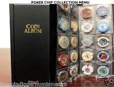 80 Pocket Poker Chip Album for Collections Harris Book for 2x2 Holders Storage