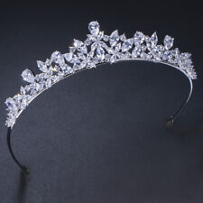 CWWZircons Cubic Zirconia Bridal Flower Tiara Crown Wedding Hair Accessories