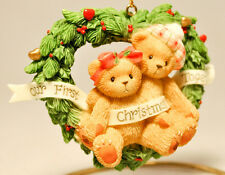 Cherished Teddies: Our First Christmas Together - 865001 - Heart Shaped Wreath