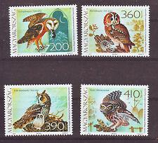 Hungary - 2017. Fauna of Hungary - Owls - Set - Mnh