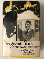 SERGEANT YORK HIS OWN LIFE STORY 1ST in dj DOUBLEDAY 1928 BY SKEYHILL