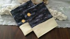 COUNTRY COTTAGE KIDS SET/2  A VERY SPOOKY FULL MOON HALLOWEEN NIGHT PILLOWCASES