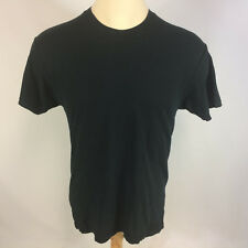 Vintage 80s 90s Blank Plain Distressed Grunge Surf Skate Work Black T Shirt Fotl