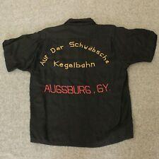 VTG King Louie Bowling Embroidered Shirt German Kegelbahn Augsburg Tiger M Med