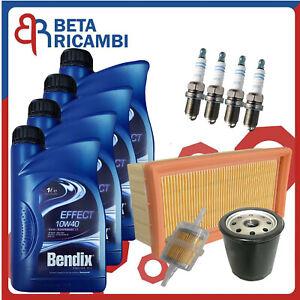 Kit Tagliando Fiat Panda Uno Tipo Lancia Y10 Motori Fire i.e Olio 10W40 Candele