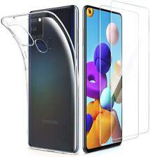 "Funda Carcasa Gel Silicona Transparente Clear Para Samsung Galaxy A21S (4G) 6.5"""